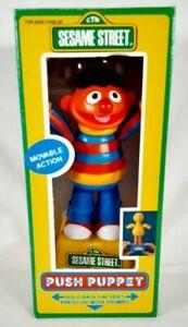 RARE 1991 Jim Henson Sesame Street Push Puppet - Tara Toy Corp. -  Ernie
