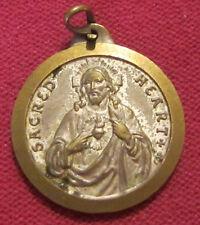 """Antique Catholic Religious Medal - Notre Dame De Liban / Sacred Heart - """" CDF """""""