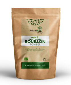 Organic Vegetable Bouillon Powder - Instant Stock Granules | Broth, Base, Soups