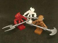 Lego Minifigure Bionicle: Selection + Weapons x3