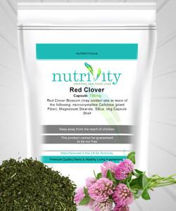 Herbal Supplement for Liver Health Red Clover 750mg Veg Capsules Nutrivity UK
