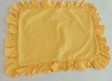 Ralph Lauren Yellow Denim Pillow Sham Ruffled Rl Flag Logo Standard (1) Vintage