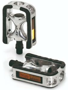 """XLC Bike Cycle Bicycle City Comfort Pedals PD-C01 9/16"""" 452g. Silver 2501840000"""