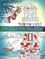 My Light and My Salvation Inspirational Adult Coloring Book - Majestic Express
