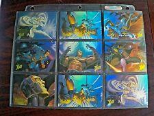 Lot of 9 1996 Marvel Fleer Ultra X-Men Wolverine Limited Ed. Holoflash Cards