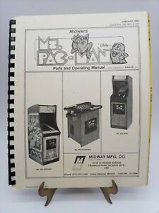 Vintage Ms Pac Man Parts & Operating Manual Midway MFG Co games 595, 602, 599