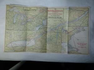 1916 CANADA STEAMSHIP LINES MARITIME NAVIGATION MAP GREAT LAKES VG