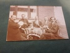 ancienne photo carte postale  groupe hommes en pose