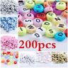 200Pcs Spacer Acrylic Beads Round Alphabet Letter DIY Bracelet Jewelry Making