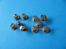 10, Pin Badge Backs / Fixings / Clutch / Clasp / Clip.  SILVER Coloured.