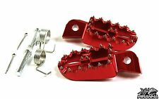 Piranha Red Billet Foot pegs with cleats for Honda CRF50, Z50, and Pit Bikes