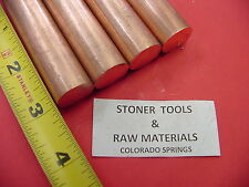 4 Pieces 34 C110 Copper Round Rod 3 Long H04 Solid Cu New Lathe Bar Stock
