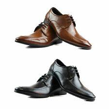 Mens Zasel Daniel Black Brown Leather Lace Up Work Formal Dress Wedding Shoes