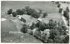 RPPC - De Pere, Wisconsin Area, Aerial View of Farmstead - Circa 1960s