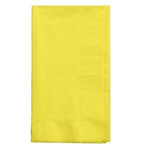 2-ply Paper Dinner Napkins Folded Guest Hand Towels Solid Colors Disposable