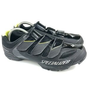 Specialized Womens Riata 61114-5542 Black Hook And Loop Cycling Shoes Size 10.5
