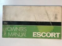 Vintage Ford Escort Owners Manual
