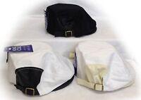 Mens Cabbie Ivy Flat Cap Gatsby Newsboy Baker Boy Black White Cotton Hat New UK