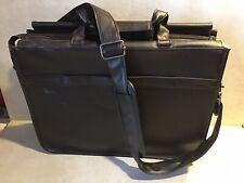 Targus Black Leather Laptop Bag With Over Shoulder Handle