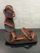 TEVA Mens Sz 13 Red Brown Hiking Water Double Strap Sports Sandal Style F3016L