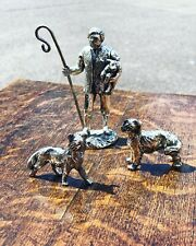 More details for silver plate figures. shepherd, highly detailed figures.