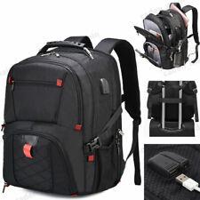 USB Waterproof Travel Bag Laptop Backpack Computer Notebook School Swiss Bag