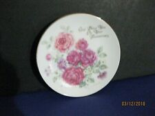 "Precious Moments 1991 Betty Whitaker Mini Plate 4"" God Bless You On Your Anniver"