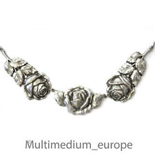 Art Deco WMF Ikora Rosen Collier Hals Kette versilbert necklace signed 30er 30s
