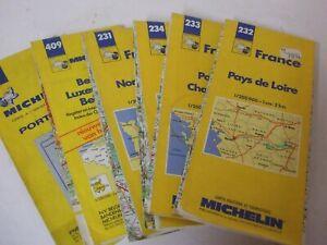6 off vintage Michelin motoring maps