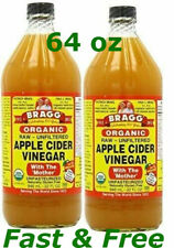 Apple Cider Vinegar Bragg Organic Usda Mother Raw Unfiltered 32 oz X 2 Pack Free
