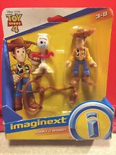 TOY STORY 4 FORKY & WOODY IMAGINEX DISNEY PIXAR FIGURES NEW