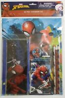 Spider-Man 10 Piece Stationery Set- 2 Folders, 3 Pencils, Zipper Case & More-New