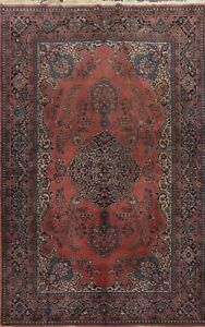 Antique Floral Anatolian Turkish Oriental Area Rug Wool Hand-knotted 7x10 Carpet