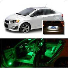 For Chevy Sonic 2012+ Green LED Interior Kit + Xenon White License Light LED