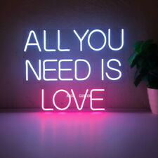 AOOS CUSTOM All You Need Is Love Dimmable LED Neon Light Signs For Wall Decor