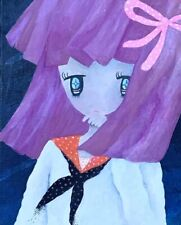 "Noriko Ito ""Does Girl need an enemy?"" Original Oil on Canvas Signed by Artist"