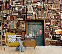 3D Retro Bookcase Door 62 Wallpaper Murals Wall Print Wallpaper Mural AJ WALL UK