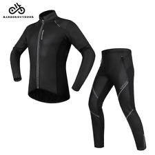 Para Hombre Ciclismo Conjunto De Chaqueta Y Pantalones Polar Cálido Térmico Cazadora Shell Ropa Traje