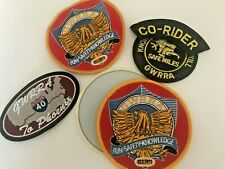 Vtg Lot of 5 MOTORCYCLE PATCHES 25th Anniversary GWRRA To Phoenix 40 Co-Rider