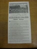 07/04/1950 Stockport County v Rochdale [Division 3 North] (light fold). Any faul