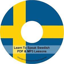 Learn To Speak Basic Swedish Language Audio MP3 +  E Book Lessons PDF's on CD