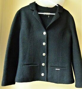 Geiger Tyrol Austria Women's Wool jacket/blazer black size 38 (US 8-10)