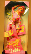 Workin' Out Barbie - Mattel 1996 - w/ Music Cassette - NRFB