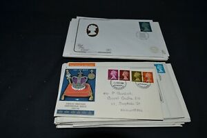GB first day covers x 72 all definitives . Some duplication but mostly different