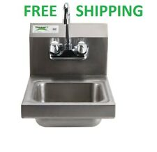 "12"" x 16"" Wall Mount Nsf Hand Wash Sink Restaurant Stainless Steel Commercial"