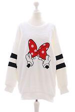 TS-08-2 weiß Cartoon Schleife Lolita Goth Pullover Sweatshirt flauschig Japan