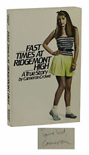 Fast Times at Ridgemont High ~ SIGNED by CAMERON CROWE First Edition 1st 1981 PB