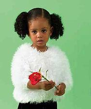 Knitting Pattern - Girls/Toddlers fluffy Cardigan  (3 sizes) PO136