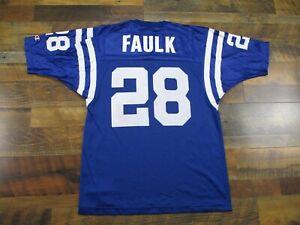 Indianapolis Colts jersey #28 Marshall Faulk size 44 CHAMPION USA Vintage Large
