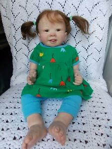 """Adorable!  23"""" Jenny by Alicia Toner Reborn Baby Girl Doll Toddler Down Syndrome"""